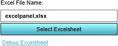 The Excel selection button.
